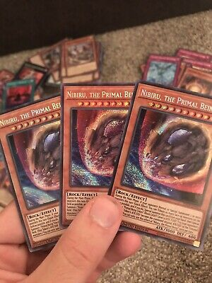 Yugioh Nibiru , The Primal Being X3 In Hand Priority Shipped 2-3 Days