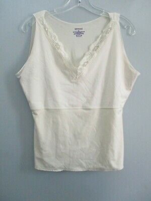 Spanx by Sara Blakeley Women's Size XL Solid Off-White Sleeveless Undershirt