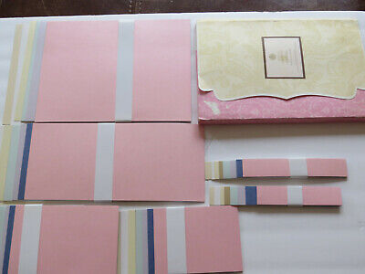USED Anna Griffin Metallic Layers  128 Cardstock Pieces Card Making