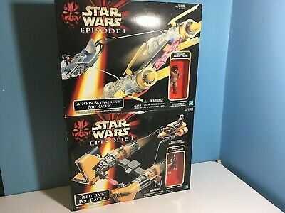 Star Wars Episode 1 Sebulba & Anakins Podracers New in Box
