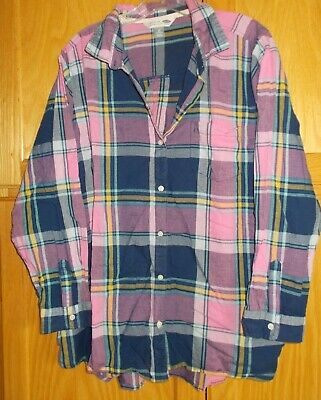 Old Navy Womens Plus 2X Classic Shirt Button Down Plaid Check Long Sleeve Blouse