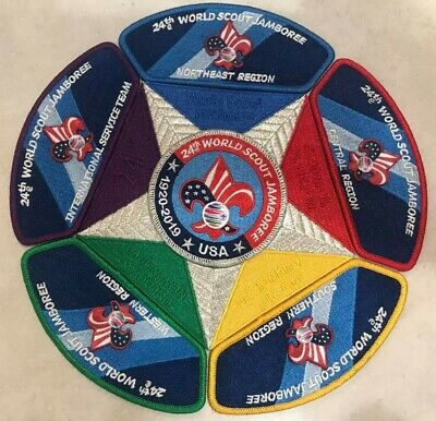 24th World Scout Jamboree 2019 Patch USA BSA Contingent Set - CSP JSP IST BSA