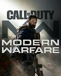 Call of Duty Modern Warfare 2019 POSTER RARE!! Double Sided