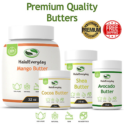 Organic Raw Butter - PREMIUM QUALITY 100% Pure Skin Face Body Hair Unrefined NEW
