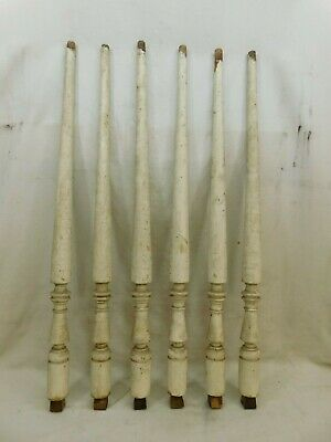 Six 1800's Wooden Walnut BALUSTERS Stair Railing TRIM Turned Spindles ORNATE