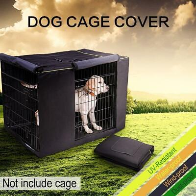 Pet Dog Cages Cover Waterproof Non-slip Solid Extra Kennel Cage Cover for Medium