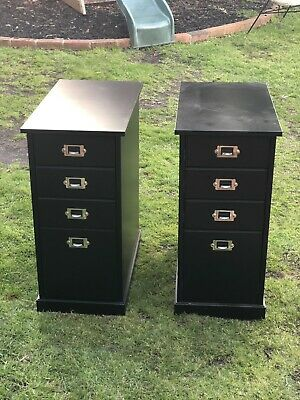 2x IKEA 4 Drawers Filing Cabinet - Black Color - I Good Condition