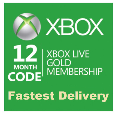 Xbox Live 12 Months Gold Membership Subscription Code (Xbox One)