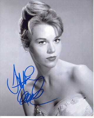 Jane Fonda Barbarella Actress Signed 8X10 Sexy Photo With Coa