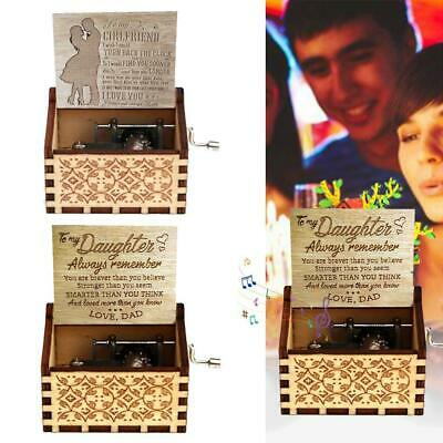 To MyGirl /Daughter You Are Loved MoreThan You Know Engraved Music Box Gift