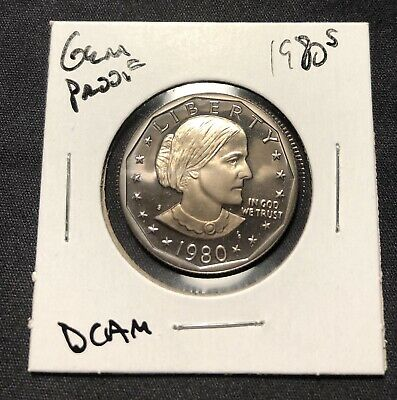 1980~S Susan B Anthony *Proof* Dollar Coin. Free Shipping! Exact Coin Shown!!