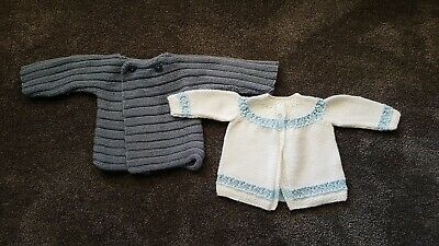 Boys Knitted Cardigans EUC Size 0000 or NB