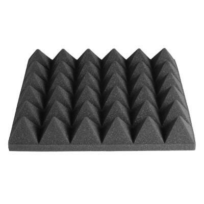 UK  Acoustic Panels Sponge Drum Room Pyramid Sound Absorbing Soundproofing Foam