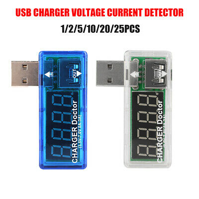 USB Charger Battery Doctor Mobile Power Detector Tester Voltage Current Meter AU