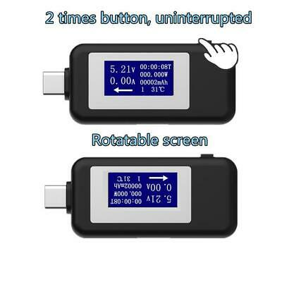 Type-c Multifunction Dual USB Voltmeter Tester Monitor Current Voltage Meter