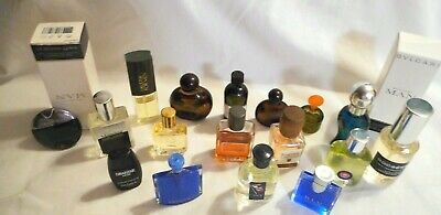 Lot 19 Mens Miniature Fragrance Assortment Most Vintage All Full Or Near Full