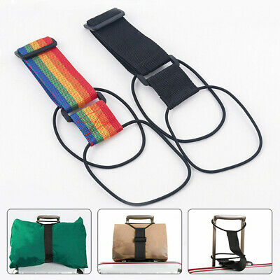 Adjustable Add A Bag Strap Travel Luggage Suitcase Belt Carry On Bungee Travel /