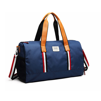 Travel Duffel Bag Leather Canvas Sports Gym Bag Weekender Carry On Luggage 
