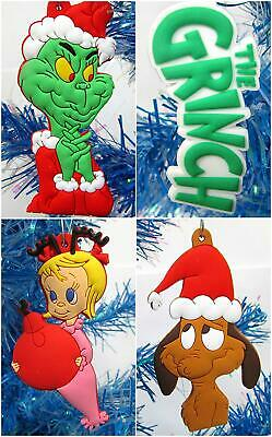 The Grinch Who Stole Christmas 4 Piece Ornament Set Cindy Lou Who, Max & More