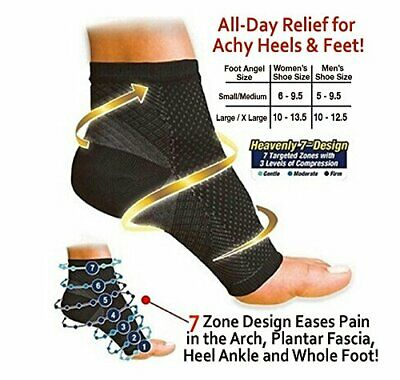 Medical Compression Ankle Socks Heel Foot Arch Pain Relief Supports for Unisex
