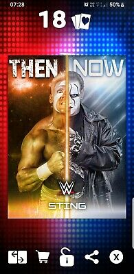 Topps WWE Slam Digital Card Sting Then And Now award 2018