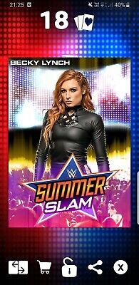 Topps WWE Slam Digital Card 435cc Becky Lynch summerslam motion Award 19