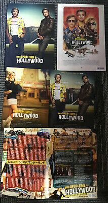ONCE UPON A TIME IN HOLLYWOOD Japan PRESSBOOK + mini-posters TARANTINO DiCAPRIO