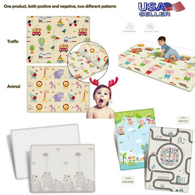 Baby Kids Toddler Activity Crawl Creeping Non-toxic Foam Carpet Rug Play Mat USA