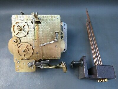 Vintage Emperor 341-020 mantel clock movement and chimes for repair or spares