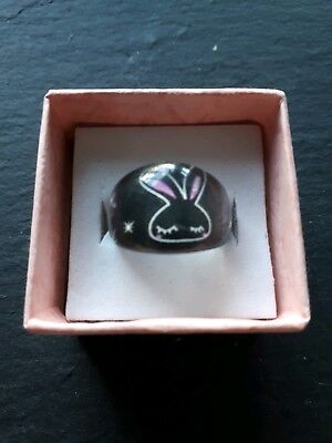 Brand new childs cartoon bunny ring! Size I! Jewellery kids childrens gift!