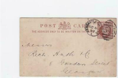 Great Britain 1890 Newcastle on Tyne Steamship  stamps card  ref R20036