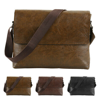 J.eep Men's Retro Leather Briefcase Satchel Shoulder Business Messenger Handbag