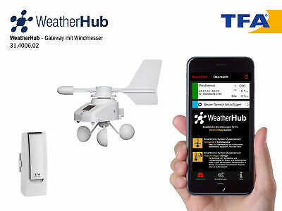 TFA 31.4006.02  WeatherHub SET7 mit Funk-Windmesser