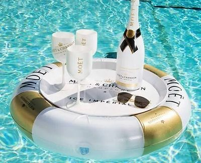 Moet Chandon Ice Imperial Pool Bar Includes Rubber Ring And Tray X 1 New