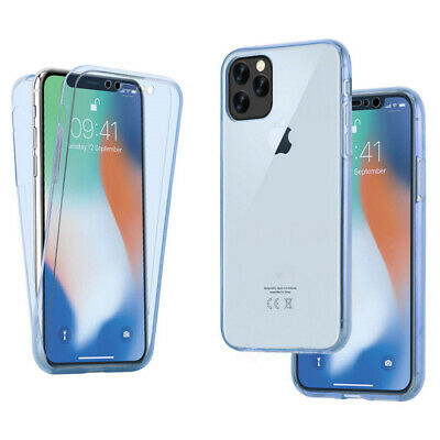 For iPhone 11 Pro Max XS XR 8 7 360° Clear TPU Full Body Soft Rubber Case Cover