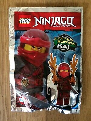 LEGO Ninjago Ltd Edition Kai Mini-Figure New In Foil Bag