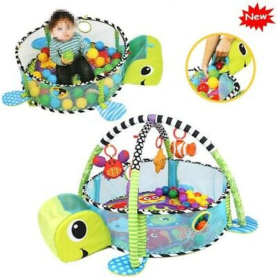 3 in 1 Baby Gym Play Mat Lay Baby Activity Gym Playmat Boy Girl W/30 ball Kid US