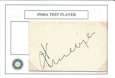 Cricket Autograph Kiran Shanka More India Test Player Signed Card Z9924