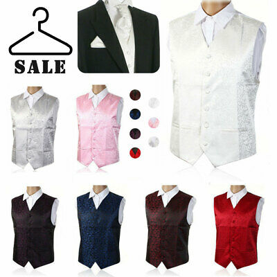 """New Top Swirl Mens Wedding Party Waistcoat Chest Available S-5XL Size 36""""-50"""" UK"""
