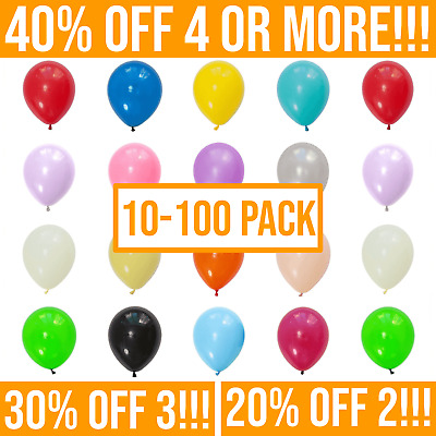 "10-100, Plain LATEX BALLOONS, 10"", Helium. Party, Birthday, Wedding, Christening"