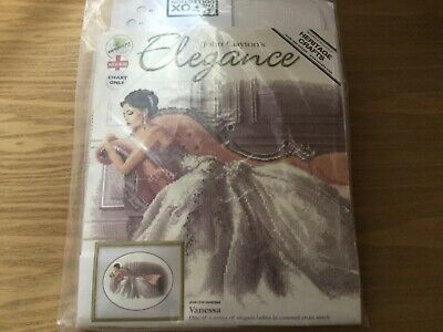 John Clayton Counted Cross Stitch Kit - Elegance Vanessa