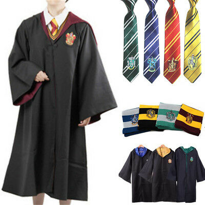 Harry Potter Enfants Adulte Cape Écharpe Cravate Cosplay Costume Neuf