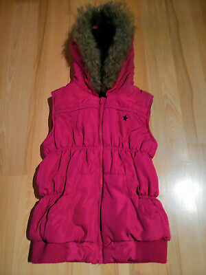 Fab pink, hooded, bodywarmer / jacket / gilet from George. Age 10-11