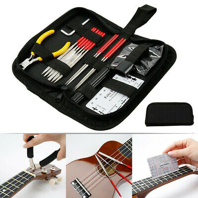 Guitar Care Cleaning Repairing Tool Kit Luthier Setup Maintenance Metal Tool Set