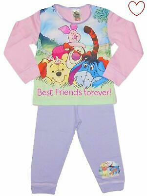 Winnie The Pooh Girls Disney Long Pyjamas Official
