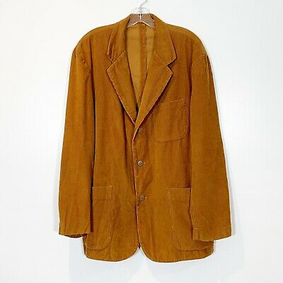 J. Crew Men's M Corduroy Sport Coat Blazer Brown Sports Jacket 3 Button Cotton
