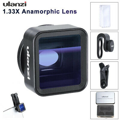 Ulanzi 17mm 1.33X Anamorphic Widescreen Lens Mobile Phone Wide-Angle Shoot Lens