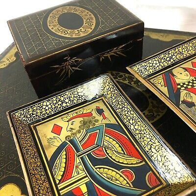 REGENCY Gaming Box Fitted Interior Boxes & Trays C1820 Décor Collectable