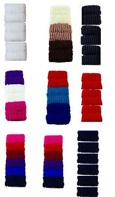 6 x Large Elastic Ponytail Bobbles Hair Bands Soft Scrunchies for Thick Hair