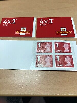 Royal Mail Stamps3 x LARGE 1st CLASS Books of4Self Adhesive stamps